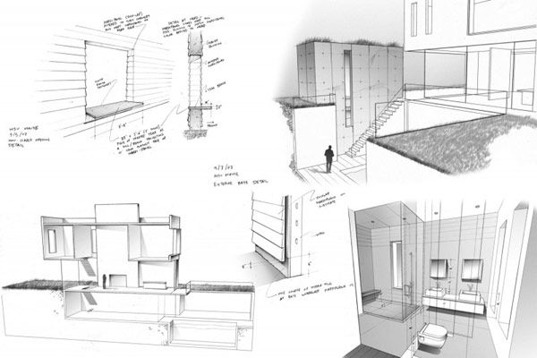 Modern Residence Design: Bayside Area Residence in NY: Exciting Bayside Residence In NY Plan With 3D Drawing