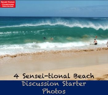 4 Sensei-tional Beach Wallpaper Discussion Starter PhotosBring the beach to the classroom after the school holidays! These photos will grab the attention of students walking into Social Studies, History, Geography, Earth Science, Environmental Studies or Elementary classes?