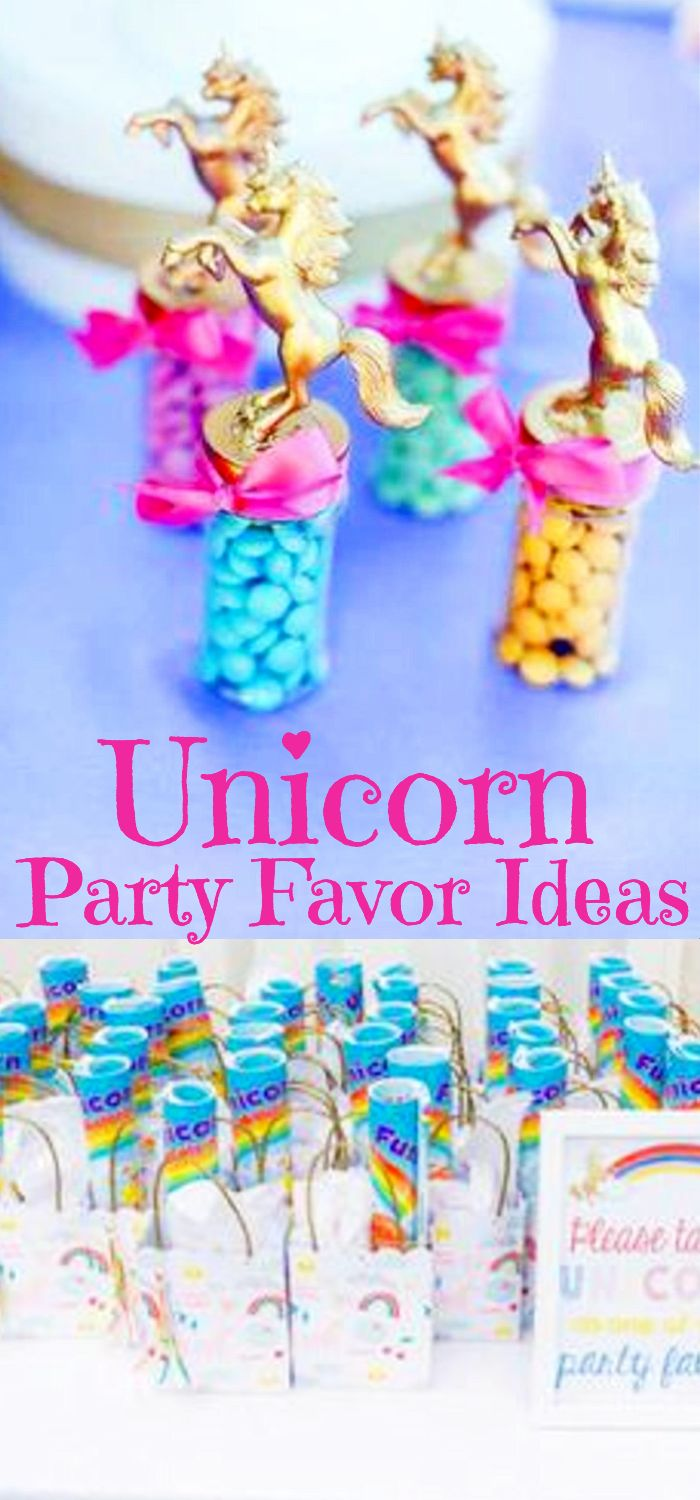 Unicorn Party Supplies Favors For Birthdays And More Magical Goodie Bags Make Your Own DIY