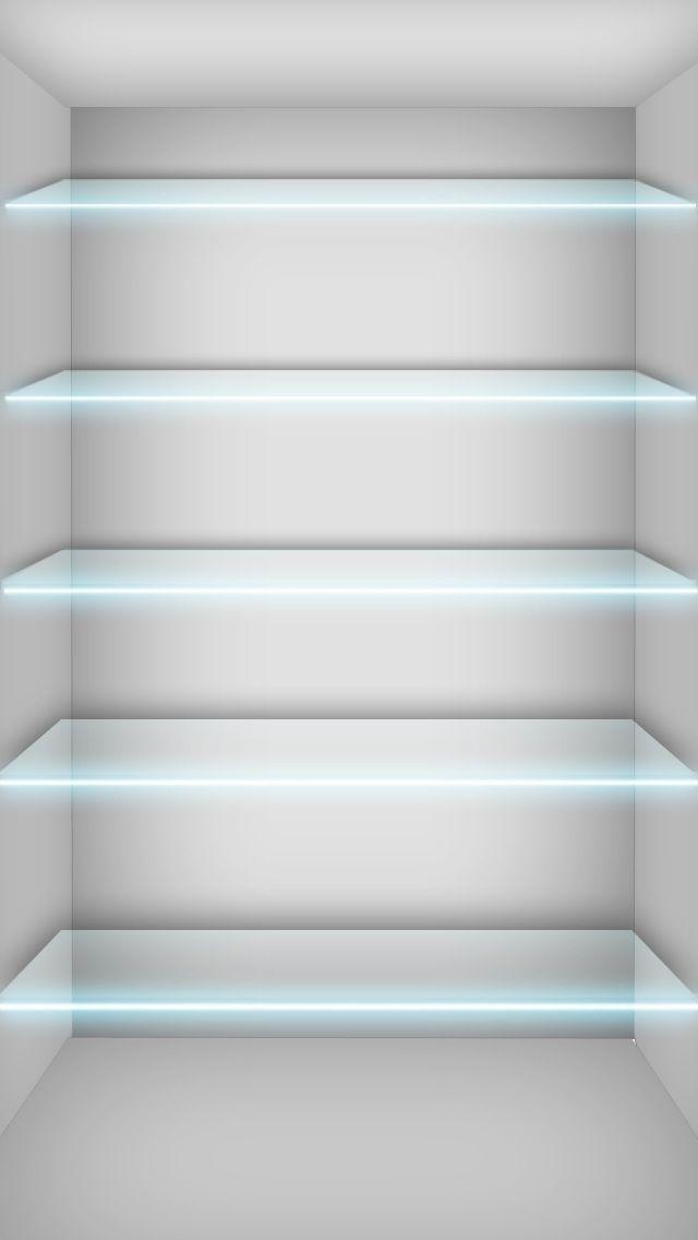 Glass Shelves Wallpaper