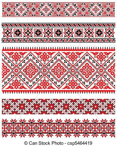 Ukrainian folk pattern