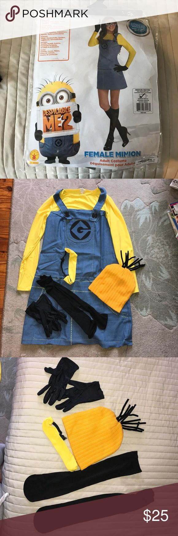 Adult Minion Costume 6-10 Used once for about an hour. Includes all accessories as well as hat with hair coming out that I made myself. True to size. Other