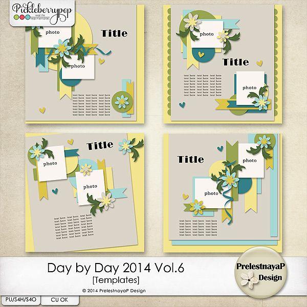 Day by Day 2014 Vol.6 Templates by PrelestnayaP Design