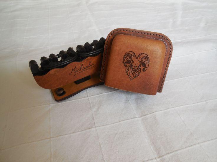 Bogensport Köcher Lederköcher Bogenköcher Leder Handarbeit mobile Montage Preis: 120,00€. Made in Germany DIY