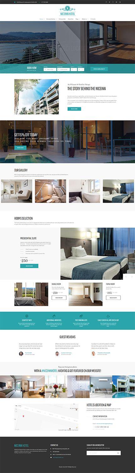 Template 61237 - Modern Hotel  Responsive WordPress  Theme