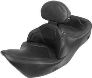 Image of Saddlemen Heated Road Sofa Deluxe Touring Seat W Driver Backrest- Honda GL1800 Goldwing 01-10 - H21-01-0851HCT