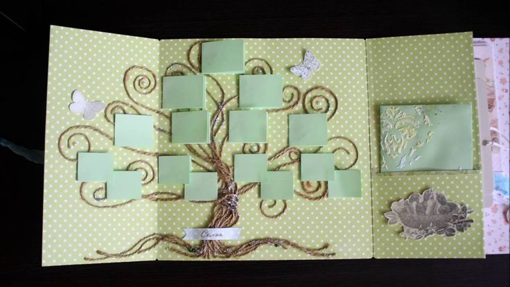 """скрапбукинг мастер класс разворота """"семейное дерево"""""""