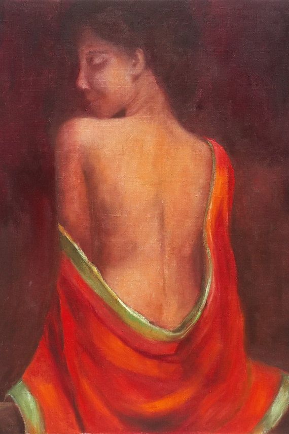 *TITLE: Indian Beauty  *SIZE: 50 cm x 70 cm.  *HAND-PAINTED: All paintings in…