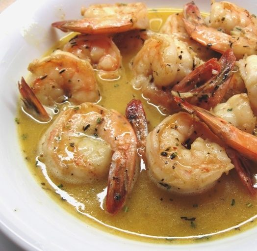 Chef Paul Prudhomme's BBQ Shrimp - it is important to note that this has NOTHING to do with grilling or BBQing, but it has amazing flavor. note: the original recipe published in prudomme's louisiana kitchen uses 1 teaspoon of cayenne not 1/2 teaspoon. also it is better with fresh rosemary. do not skip the step about chopping the rosemary!