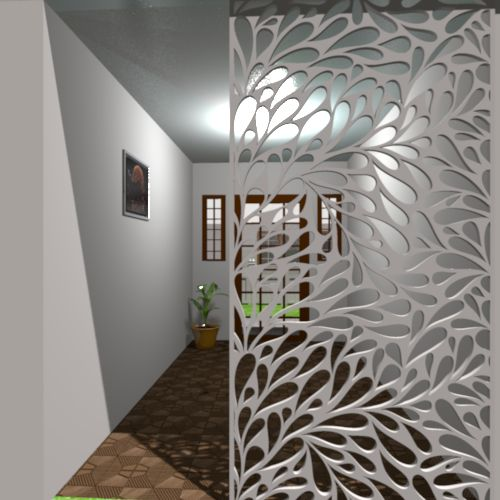 Leaves Ornamental Panel Jali Screen Partition Designs can be used in countless projects
