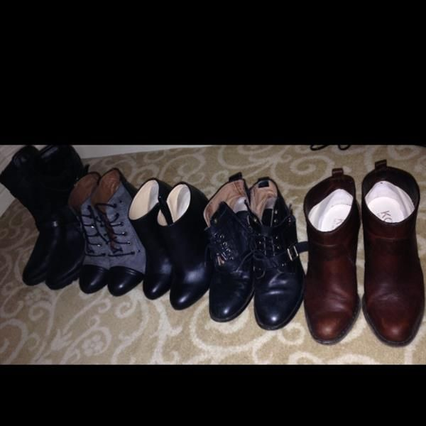 5 pairs of boots for 2 of us, over 3 days! by Linda