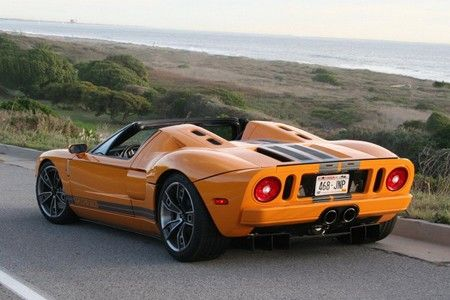 Ford GT Roadster. Idk why anyone would want a Roadster version since it looks kinda strange, but it's still sweet.