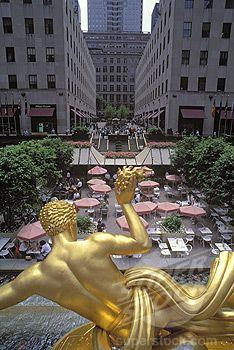 Summer Garden Cafe, Rockefeller Center.  NYC