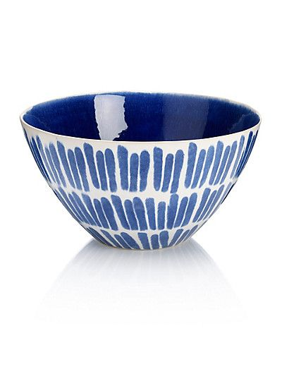 Indigo Mix Serving Bowl Home