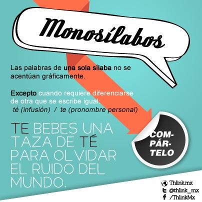 Nos pidieron ayuda con la acentuación de monosílabos. Recuerden que sus sugerencias son muy importantes para nosotros ¡sigan enviándolas!