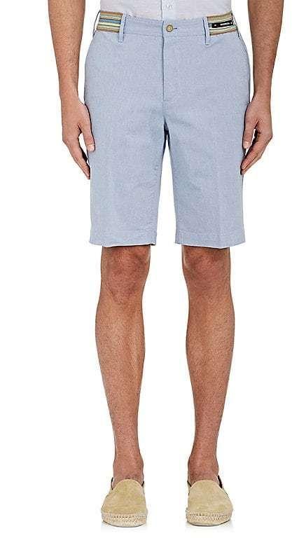 PT05 Men's Stretch-Cotton Chambray Bermuda Shorts