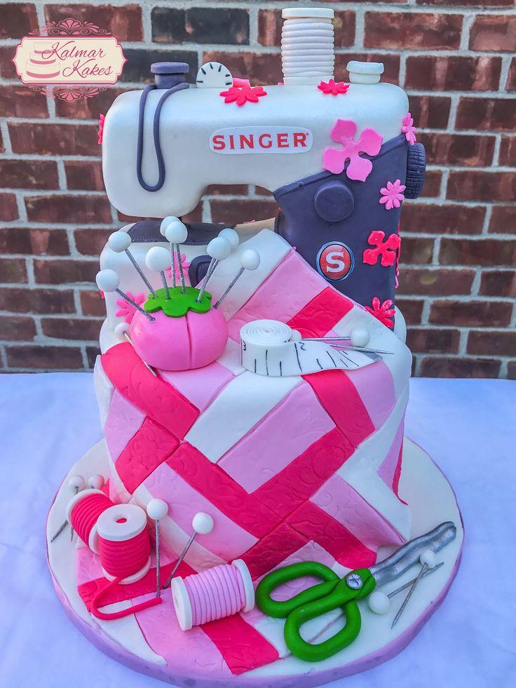 Singer sewing machine cake! #sewing #Singer #quilting #metrodetroit