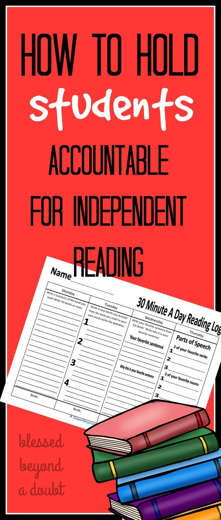 One of the most frustrating tasks as an ELAR teacher is holding your students accountable for independent reading. Take these 5 tips into your classroom. Be sure to grab the free independent reading log.