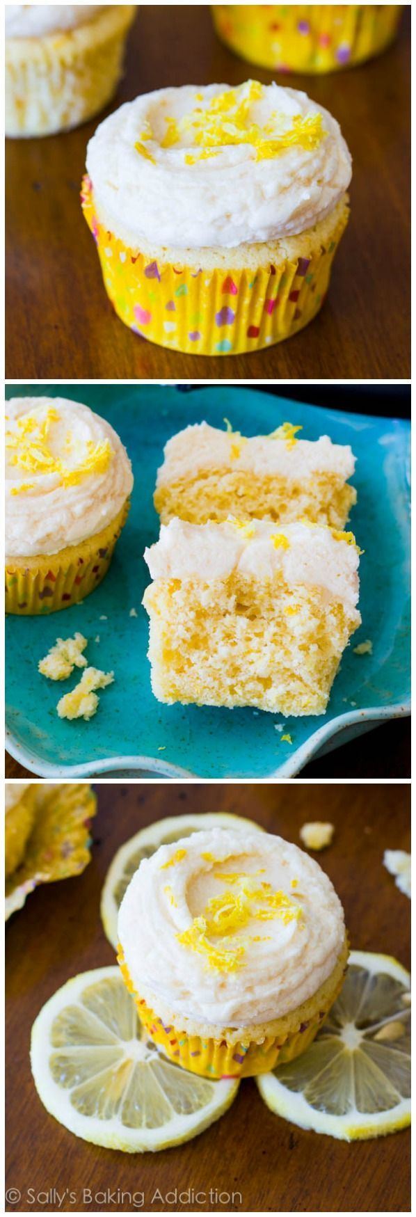 These sunshine sweet homemade lemon cupcakes are incredibly soft and bursting with lemon flavor!