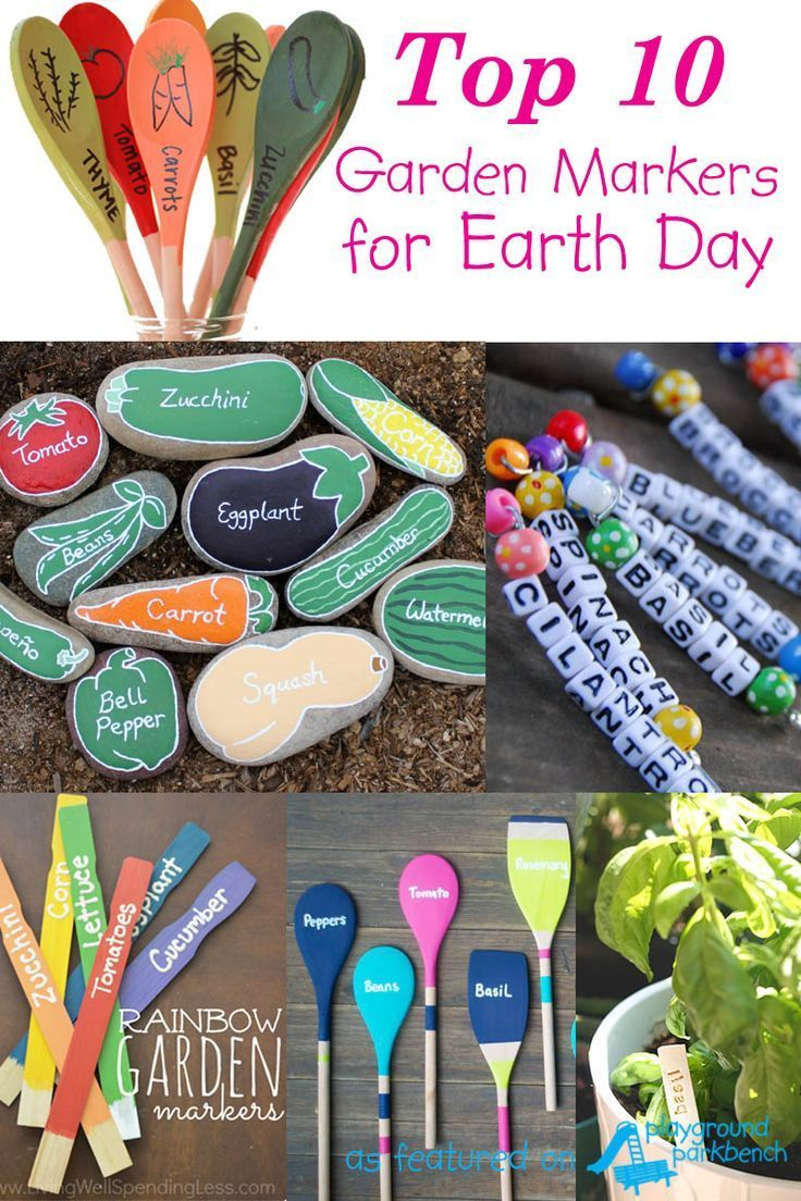 Celebrate Earth Day by planting a garden... and using your choice of these fun DIY garden markers to label all your plantings!