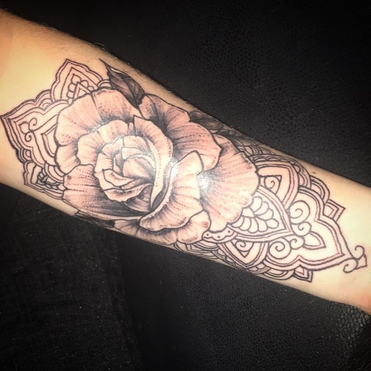 my first tattoo excited to carry on the sleeve rose. Black Bedroom Furniture Sets. Home Design Ideas