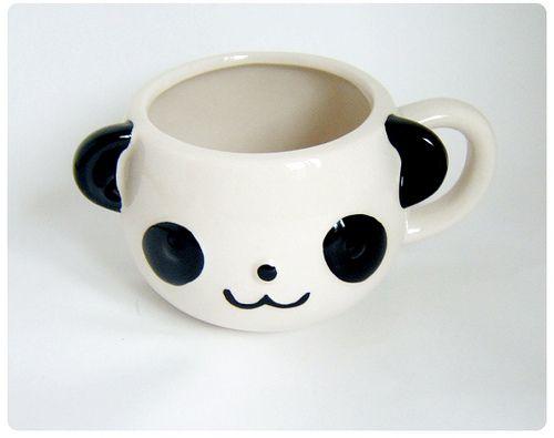 Panda animal face porcelain mug cup by icecream drops for Animal face mugs