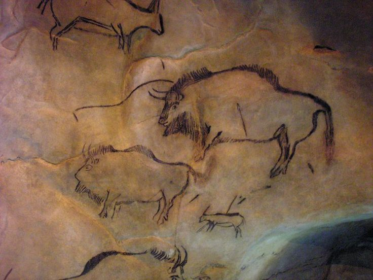 Magdalenian Era Cave Painting of Bison -- Grotte de Niaux, France -- Approximately 15,000 years old.