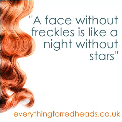 a face without freckles redhead quote