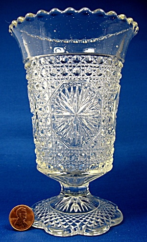 EAPG Celery Vase Star Medallion Amelia Early American (Image1)