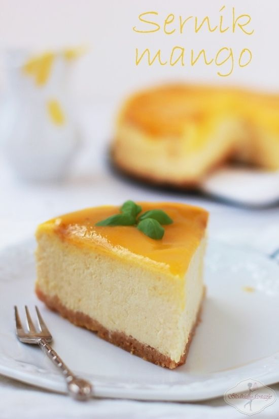 Sernik mangi / Mango cheesecake recipe