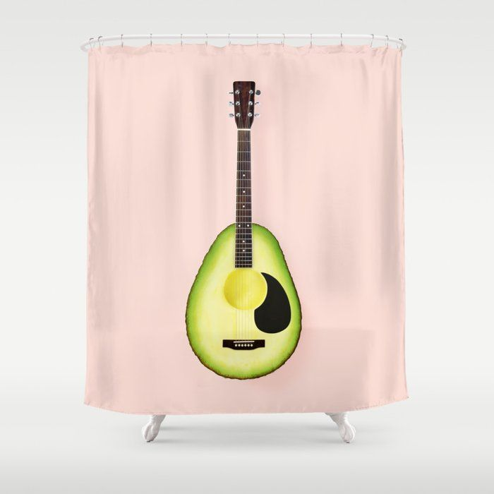 Avocado Guitar Shower Curtain Repin Or Leave A Comment If You