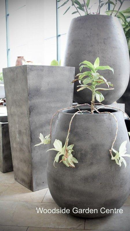 Riverstone Lightweight Tall Planter Garden Pot | Woodside Garden Centre | Pots to Inspire