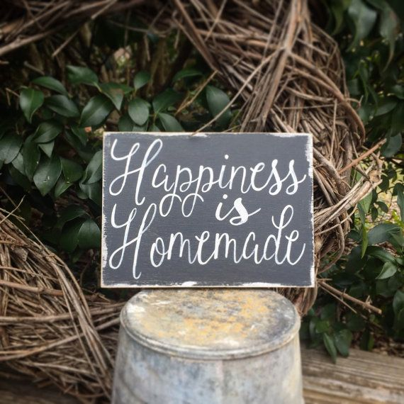 Happiness Is Homemade Handpainted Sign Handmade 12x12 Wall: 25+ Unique Homemade Housewarming Gifts Ideas On Pinterest