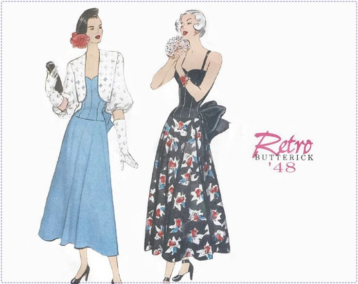 Retro 1940s Sewing Pattern - Butterick 6462 Reprint - Misses Dress with Bolero - Size 12 14 16 Bust 34 36 38 - UNCUT, Special Occasion Dress by EightMileVintageSews on Etsy