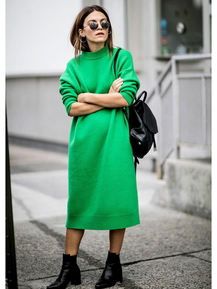 今日は何着よう……と迷った日も、ニットドレスが一枚あれば、最旬ルックがすぐできる! ベラやジジ、ヘイリーなど、おしゃれセレブたちもニットドレスでラクチンモードを実践中。