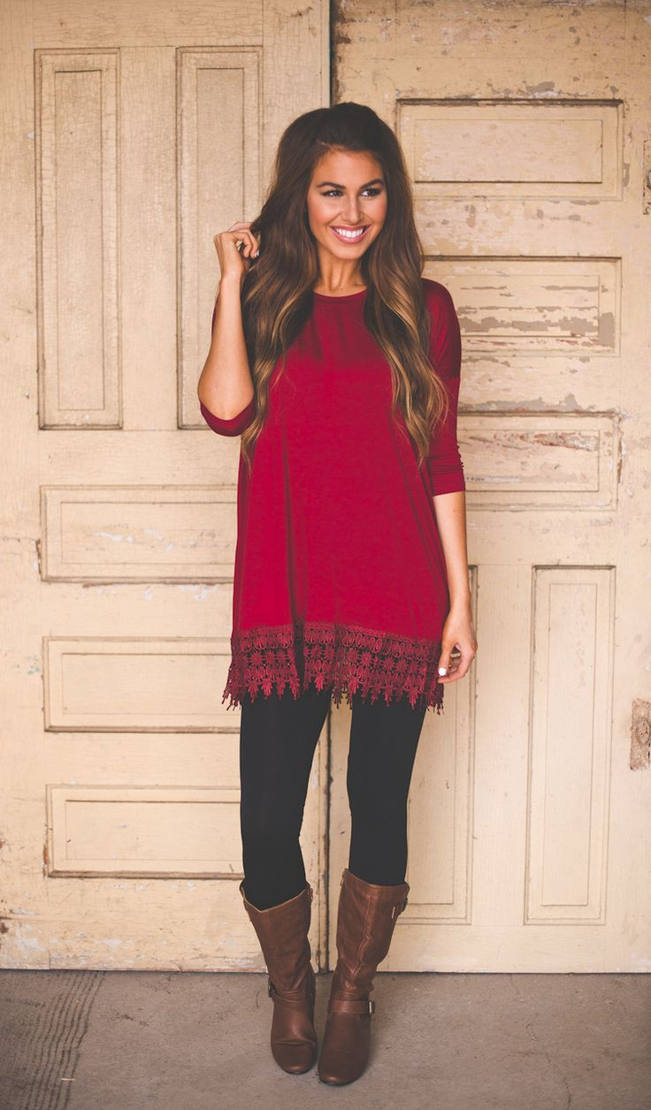 Dottie Couture Boutique - Solid Red Tunic , $32.00 (http://www.dottiecouture.com/solid-red-tunic/)