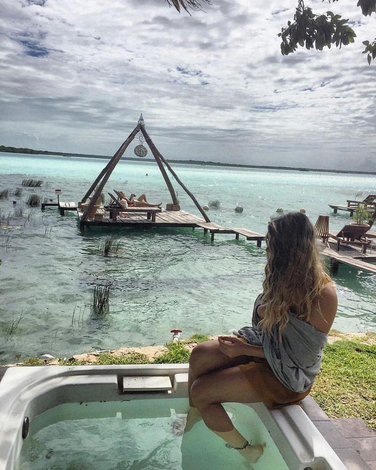 """BACALAR😍🌴 Mariana Miranda (@mamirandamx) on Instagram: """"Quiero regresar a este paraíso"""""""