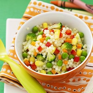 Toddler Pasta Salad! A Healthy dish with food for a todler from @parents