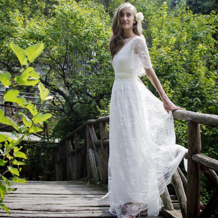 Buy boho chic wedding dress