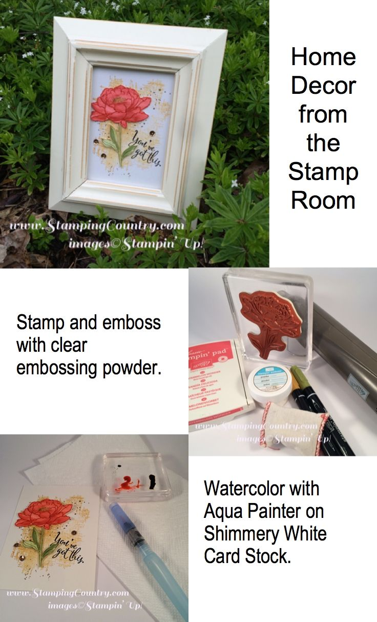 DIY Home Decor from the Stamp Room, You Got This, Stampin' Up!