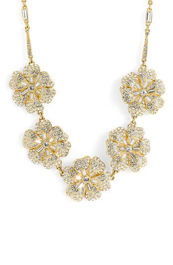 sparkle sparkle sparkleBling, Sparkle Necklaces, Sparkle Sparkle, Sparkle Blossoms, Bracelets Gold, Sparkle Flower, Necklaces Rings, Gold Jewelry, Topshoppromqueen Gold