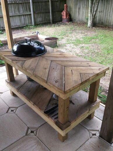 New weber grill table