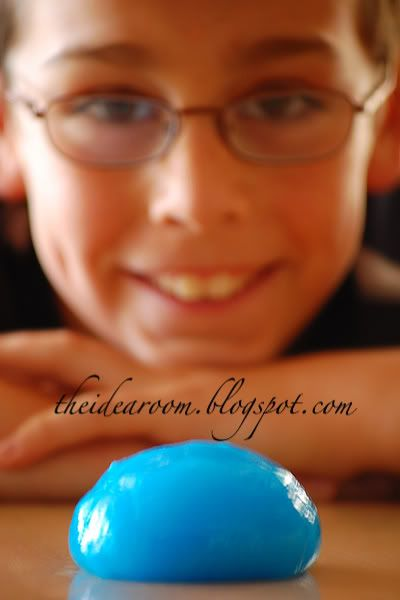 glow in the dark slime---- made with glow in the dark paint..... who knew there was such a thing?