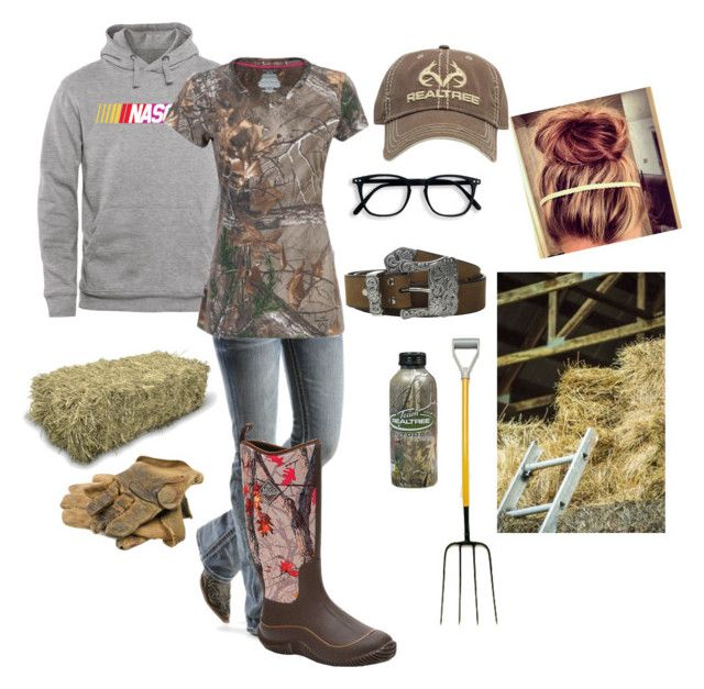 """late in the barn"" by nk12doglover ❤ liked on Polyvore featuring Miss Me, M&F Western, Realtree and Muck Boots"
