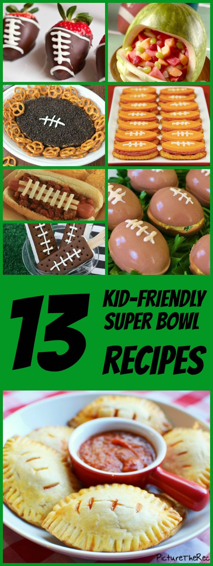 13 irresistible, kid-friendly Super Bowl recipes. #superbowl