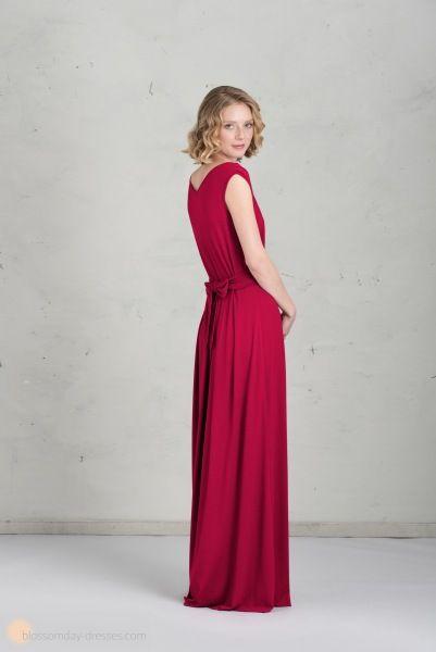 Long bridesmaid dress in raspberry ♥️ Langes Brautjungfernkleid in himbeere
