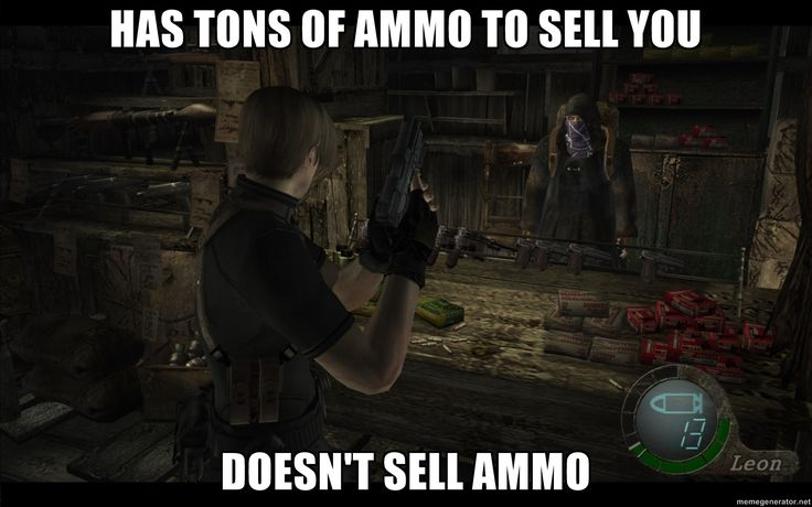 Scumbag Resident Evil 4 merchant