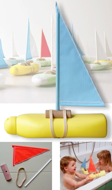 Ayúdale a crear su propio barco para divertirse en la playa, la piscina o la bañera de casa. http://spoonful.com/crafts/super-sailboat