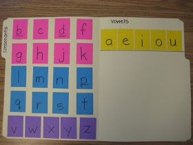 Finally in First: A Different Making Words Folder Idea