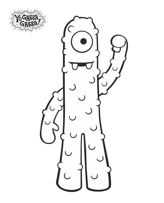 #Muno coloring sheet! #freeprintable #yogabbagabba | Muno ...